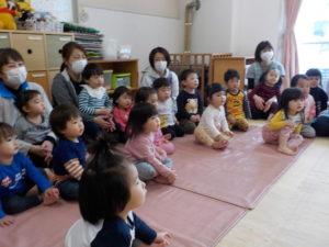 3月のお誕生会 1階クラス0.1歳児